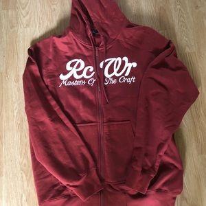 Rocawear Men's Rust Zipper Hoodie Jacket